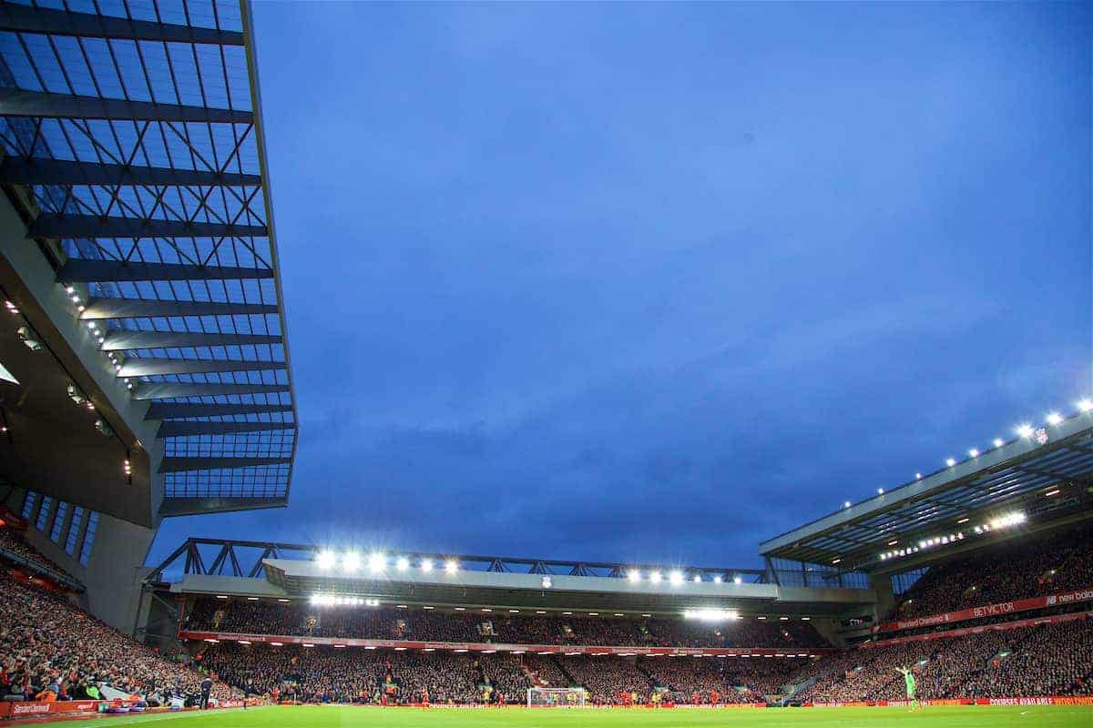 LIVERPOOL, ENGLAND - Saturday, March 4, 2017: A general view of Anfield as Liverpool take on Arsenal during the FA Premier League match. (Pic by David Rawcliffe/Propaganda)LIVERPOOL, ENGLAND - Saturday, March 4, 2017: A general view of Anfield as Liverpool take on Arsenal during the FA Premier League match. (Pic by David Rawcliffe/Propaganda)