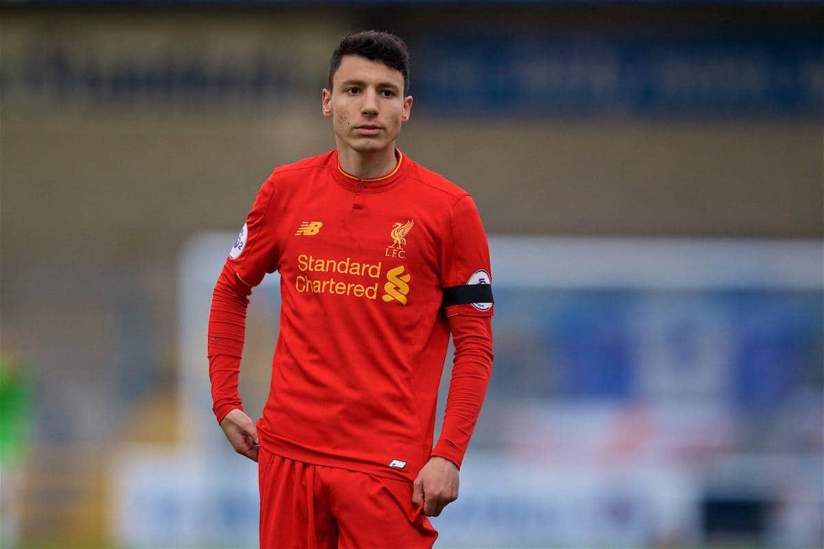 Liverpool's Paulo Alves in action against Norwich City during the Under-23 Premier League Cup Quarter-Final match at the Deva Stadium. (Pic by David Rawcliffe/Propaganda)