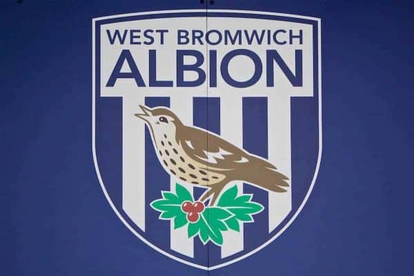 WEST BROMWICH, ENGLAND - Easter Sunday, April 16, 2017, 2016: A West Bromwich Albion club crest during the FA Premier League match against Liverpool at the Hawthorns. (Pic by David Rawcliffe/Propaganda)