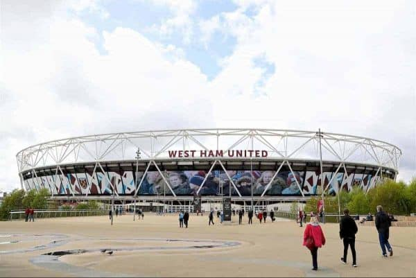 LONDON, ENGLAND - Saturday, April 22, 2017: A general view of the London Stadium, home of West Ham United, pictured before the FA Premier League match against Everton. (Pic by David Rawcliffe/Propaganda)