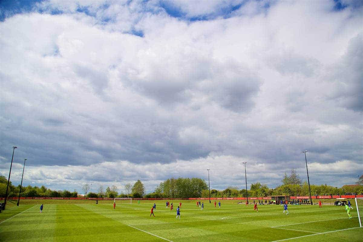 KIRKBY, ENGLAND - Saturday, April 29, 2017: Liverpool take on Chelsea during an Under-18 FA Premier League Merit Group A match at the Kirkby Academy. (Pic by David Rawcliffe/Propaganda)