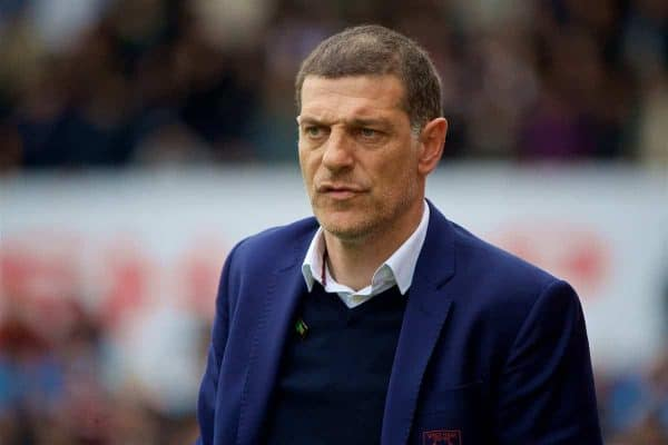 STOKE-ON-TRENT, ENGLAND - Saturday, April 29, 2017: West Ham United's manager Slaven Bilic reacts during the FA Premier League match against Stoke City at the Bet365 Stadium. (Pic by David Rawcliffe/Propaganda)