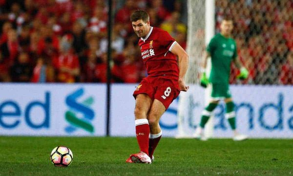 Liverpool's Steven Gerrard in action against Sydney FC during a post-season friendly match at the ANZ Stadium. (Pic by Jason O'Brien/Propaganda)