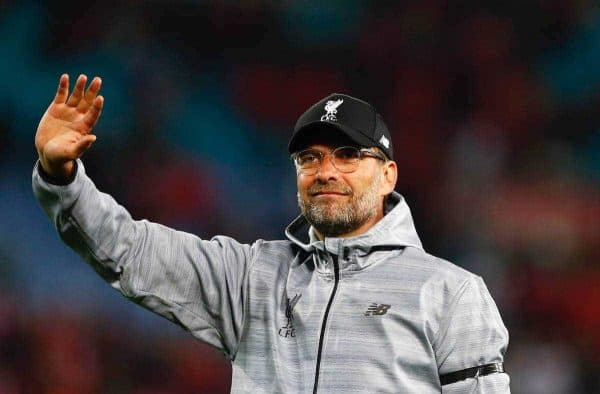 Liverpool's manager Jürgen Klopp applauds the supporters after a post-season friendly match against Sydney FC at the ANZ Stadium. (Pic by Jason O'Brien/Propaganda)