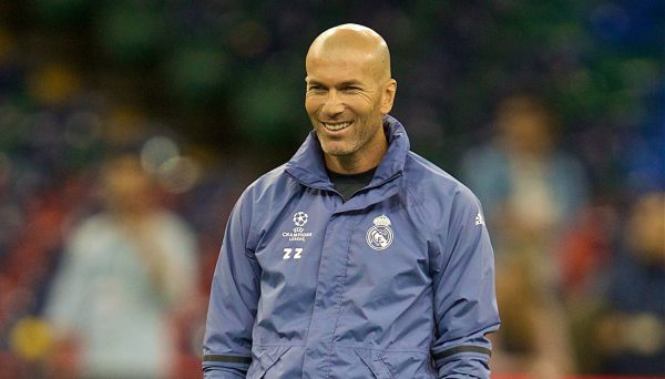 CARDIFF, WALES - Friday, June 2, 2017: Real Madrid's head coach ZinÈdine Zidane during a training session ahead of the UEFA Champions League Final between Juventus FC and Real Madrid CF at the Stadium of Wales. (Pic by David Rawcliffe/Propaganda)