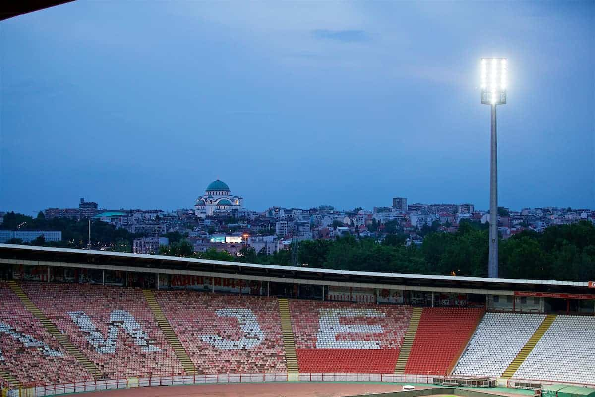 BELGRADE, SERBIA - Saturday, June 10, 2017: The Church of Saint Sava seen from the Red Star Stadium ahead of the 2018 FIFA World Cup Qualifying Group D match between Serbia and Wales. (Pic by David Rawcliffe/Propaganda)