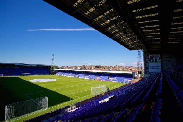 BIRKENHEAD, ENGLAND - Wednesday, July 12, 2017: A general view of Tranmere Rovers' Prenton Park stadium ahead of a preseason friendly match against Liverpool. (Pic by David Rawcliffe/Propaganda)