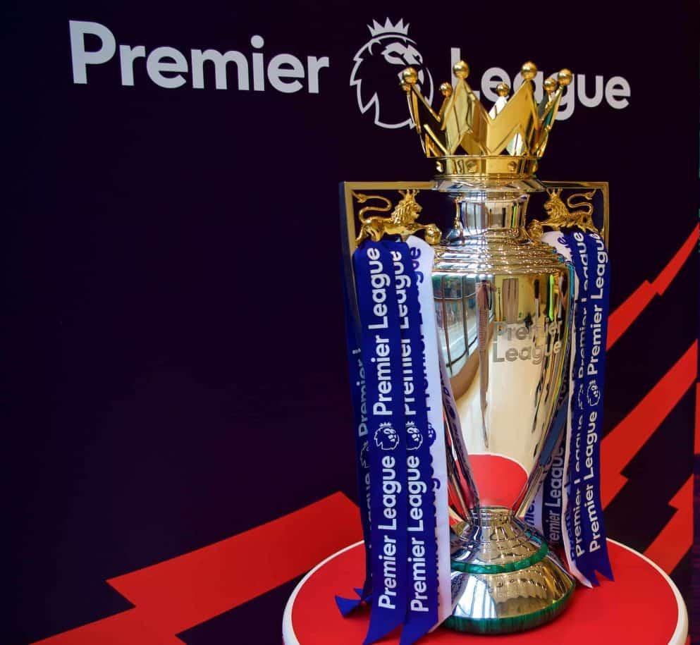 Premier League trophy, general (Pic by David Rawcliffe/Propaganda)