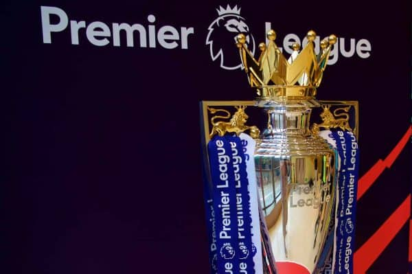 Premier League trophy, general (Pic by David Rawcliffe/Propaganda)