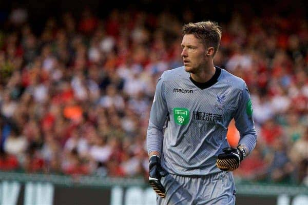 HONG KONG, CHINA - Saturday, July 22, 2017: Crystal Palace's goalkeeper Wayne Hennessey during the Premier League Asia Trophy match between West Bromwich Albion and Crystal Palace at the Hong Kong International Stadium. (Pic by David Rawcliffe/Propaganda)