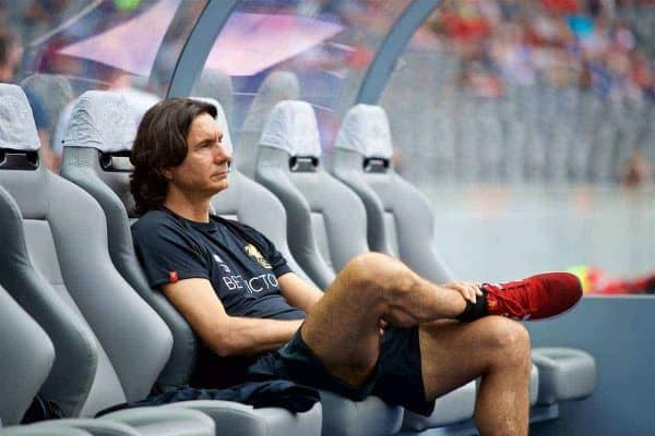 BERLIN, GERMANY - Saturday, July 29, 2017: Liverpool's assistant manager Zeljko Buvac before a preseason friendly match celebrating 125 years of football for Liverpool and Hertha BSC Berlin at the Olympic Stadium. (Pic by David Rawcliffe/Propaganda)