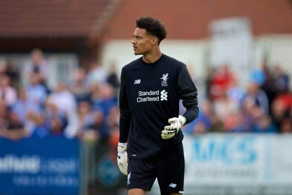 NUNEATON, ENGLAND - Saturday, July 29, 2017: Liverpool's goalkeeper Shamal George during a pre-season friendly between Liverpool and Coventry City at the Liberty Way Stadium. (Pic by Paul Greenwood/Propaganda)