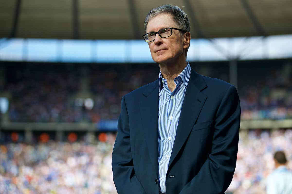 BERLIN, GERMANY - Saturday, July 29, 2017: Liverpool FC owner John W. Henry before a preseason friendly match celebrating 125 years of football for Liverpool and Hertha BSC Berlin at the Olympic Stadium. (Pic by David Rawcliffe/Propaganda)