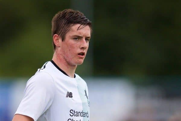 NUNEATON, ENGLAND - Saturday, July 29, 2017: Liverpool's Liam Coyle during a pre-season friendly between Liverpool and Coventry City at the Liberty Way Stadium. (Pic by Paul Greenwood/Propaganda)