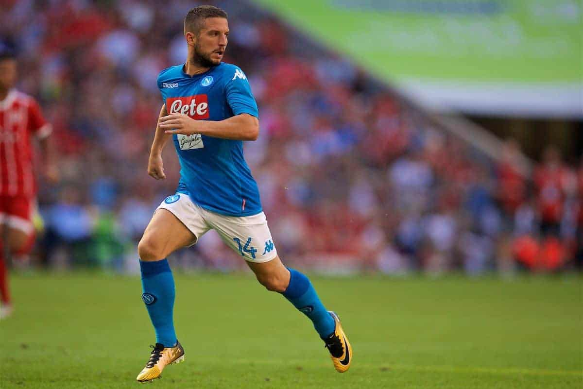 MUNICH, GERMANY - Wednesday, August 2, 2017: SSC Napoli's Dries Mertens during the Audi Cup 2017 match between Club S.S.C. Napoli and FC Bayern Munich at the Allianz Arena. (Pic by David Rawcliffe/Propaganda)