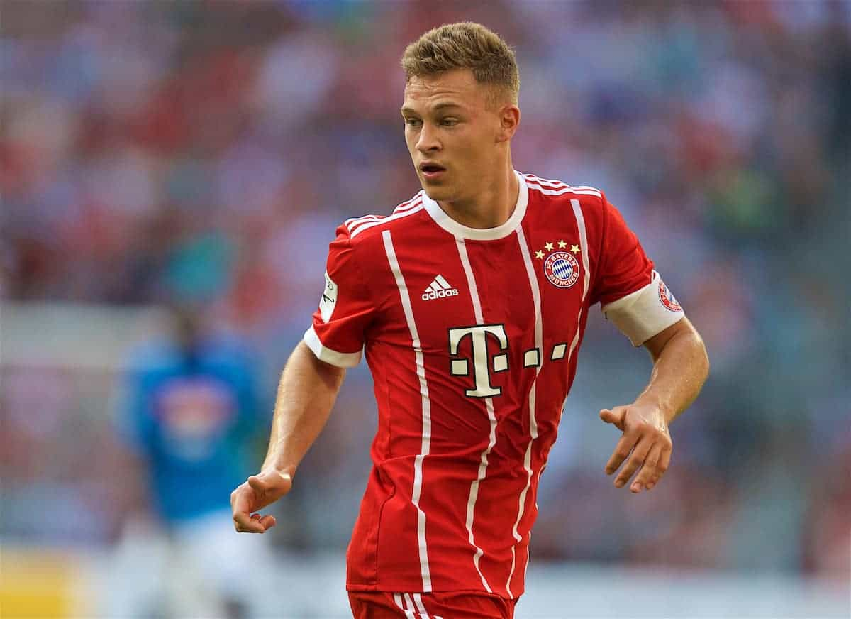 MUNICH, GERMANY - Wednesday, August 2, 2017: FC Bayern Munich's Joshua Kimmich during the Audi Cup 2017 match between Club S.S.C. Napoli and FC Bayern Munich at the Allianz Arena. (Pic by David Rawcliffe/Propaganda)