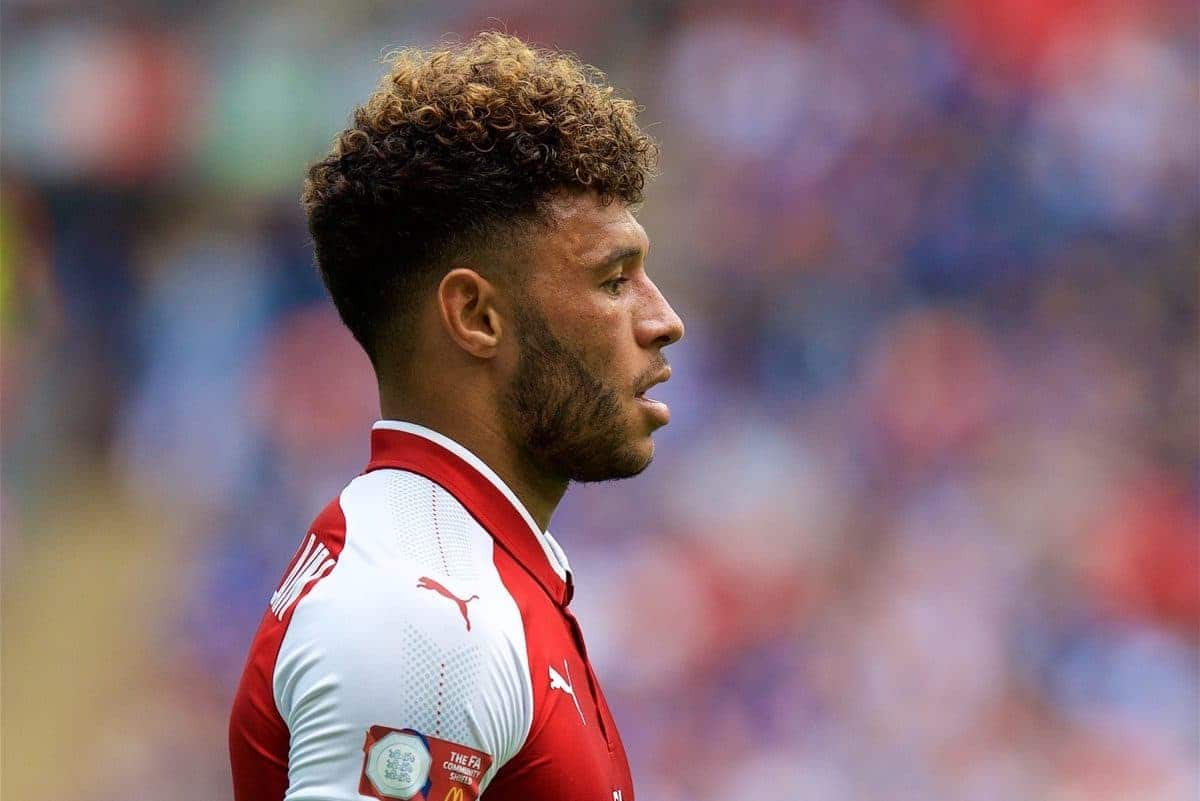 LONDON, ENGLAND - Sunday, August 6, 2017: Arsenal's Alex Oxlade-Chamberlain during the FA Community Shield match between Arsenal and Chelsea at Wembley Stadium. (Pic by David Rawcliffe/Propaganda)