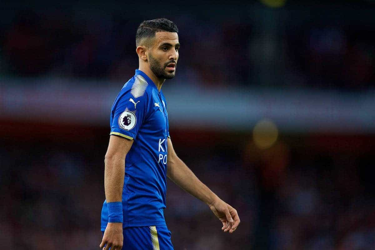 LONDON, ENGLAND - Friday, August 11, 2017: Leicester City's Riyad Mahrez during the FA Premier League match between Arsenal and Leicester City at the Emirates Stadium. (Pic by David Rawcliffe/Propaganda)