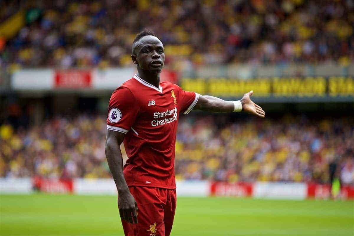 WATFORD, ENGLAND - Saturday, August 12, 2017: Liverpool's Sadio Mane during the FA Premier League match between Watford and Liverpool at Vicarage Road. (Pic by David Rawcliffe/Propaganda)