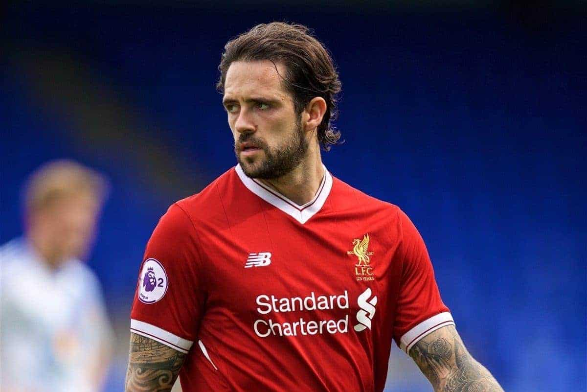 BIRKENHEAD, ENGLAND - Sunday, August 20, 2017: Liverpool's Danny Ings during the Under-23 FA Premier League 2 Division 1 match between Liverpool and Sunderland at Prenton Park. (Pic by David Rawcliffe/Propaganda)