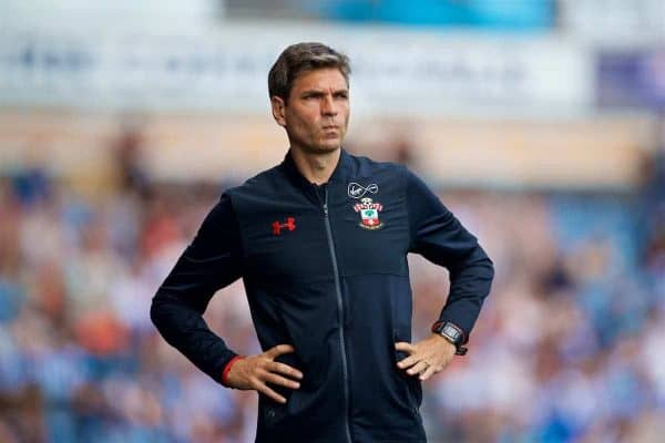 HUDDERSFIELD, ENGLAND - Saturday, August 26, 2017: Southampton's manager Mauricio Pellegrino during the FA Premier League match between Huddersfield Town and Southampton at the John Smith's Stadium. (Pic by David Rawcliffe/Propaganda)