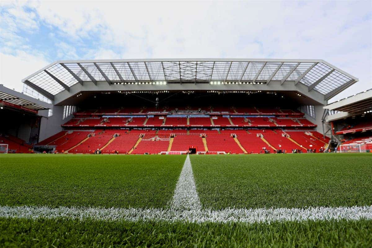 LIVERPOOL, ENGLAND - Sunday, August 27, 2017: A general view of the Main Stand at Anfield ahead of the FA Premier League match between Liverpool and Arsenal. (Pic by David Rawcliffe/Propaganda)