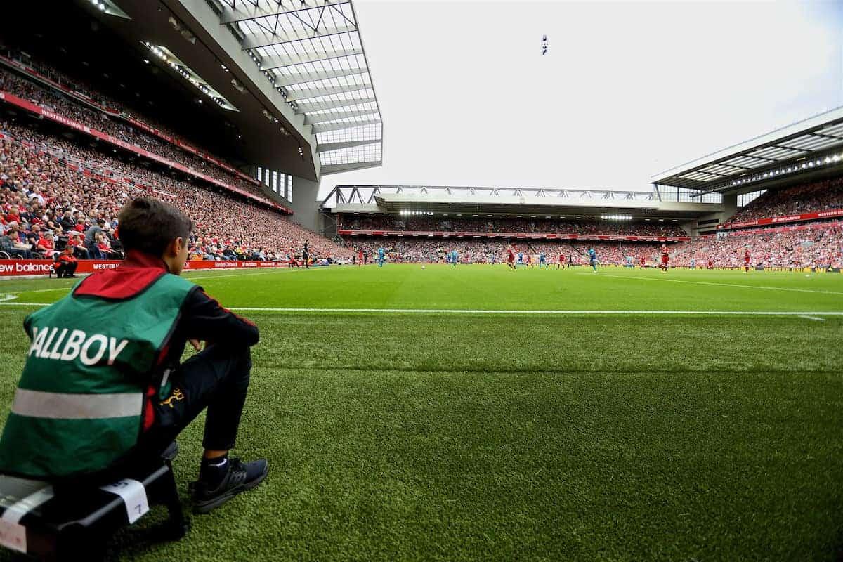 ballboy, Anfield, matchday, general (Pic by David Rawcliffe/Propaganda)