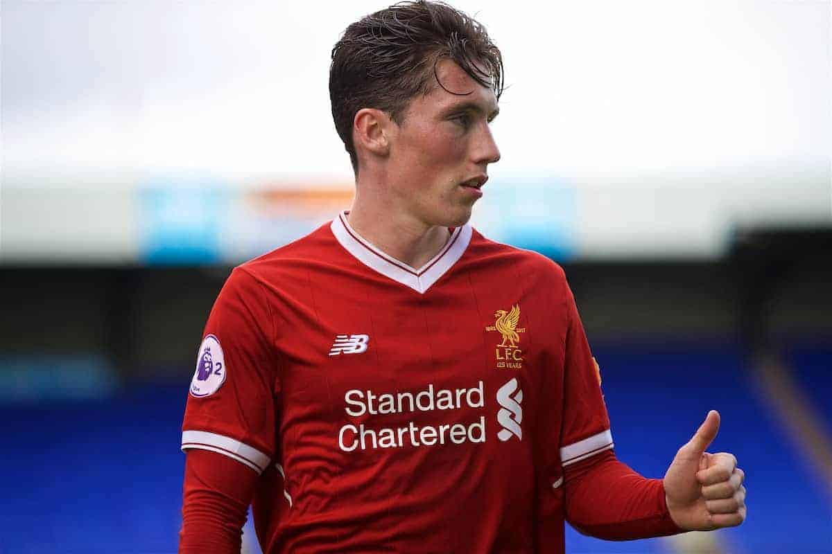 BIRKENHEAD, ENGLAND - Sunday, September 10, 2017: Liverpool's Harry Wilson during the Under-23 FA Premier League 2 Division 1 match between Liverpool and Manchester City at Prenton Park. (Pic by David Rawcliffe/Propaganda)