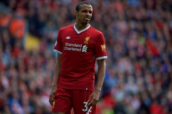 LIVERPOOL, ENGLAND - Saturday, September 16, 2017: Liverpool's Joel Matip during the FA Premier League match between Liverpool and Burnley at Anfield. (Pic by Peter Powell/Propaganda)