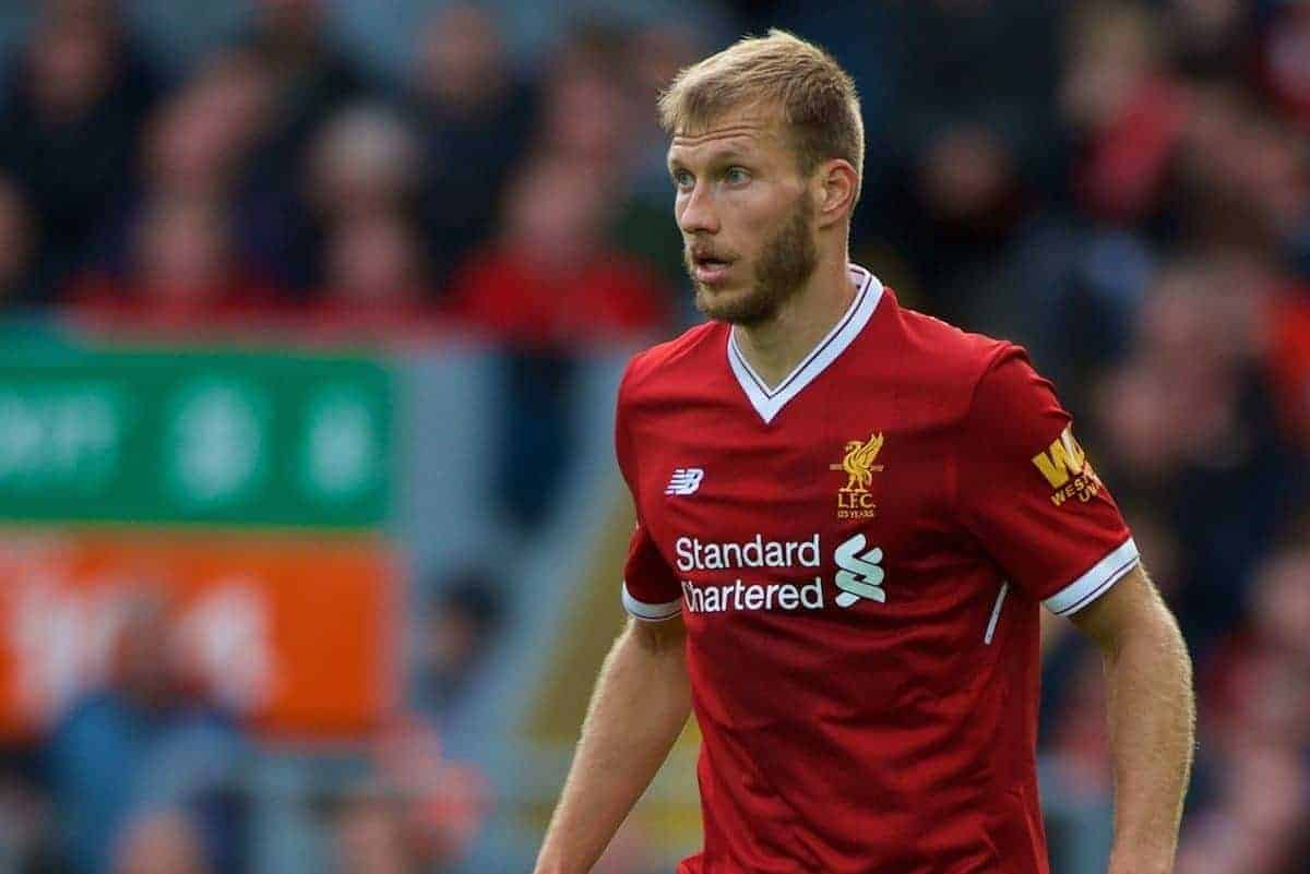 LIVERPOOL, ENGLAND - Saturday, September 16, 2017: Liverpool's Ragnar Klavan during the FA Premier League match between Liverpool and Burnley at Anfield. (Pic by Peter Powell/Propaganda)