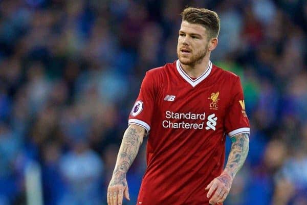 Alberto Moreno back training for Liverpool