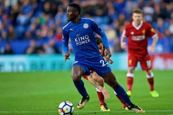 Leicester City's Wilfred Ndidi during the FA Premier League match between Leicester City and Liverpool at the King Power Stadium. (Pic by David Rawcliffe/Propaganda)