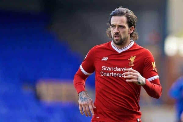 BIRKENHEAD, ENGLAND - Sunday, October 29, 2017: Liverpool's Danny Ings during the Under-23 FA Premier League 2 Division 1 match between Liverpool and Leicester City at Prenton Park. (Pic by David Rawcliffe/Propaganda)