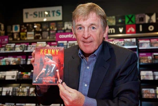 LIVERPOOL, ENGLAND - Thursday, November 30, 2017: Former Liverpool FC player and manager Kenny Dalglish signs copies of his film KENNY at HMV Liverpool. (Pic by David Rawcliffe/Propaganda)