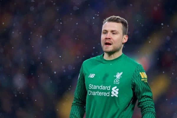 LIVERPOOL, ENGLAND - Sunday, December 10, 2017: Liverpool's goalkeeper Simon Mignolet during the FA Premier League match between Liverpool and Everton, the 229th Merseyside Derby, at Anfield. (Pic by David Rawcliffe/Propaganda)