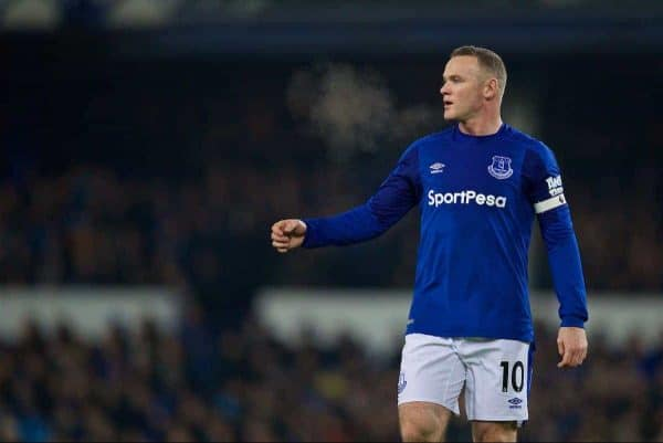 LIVERPOOL, ENGLAND - Monday, December 18, 2017: Everton's Wayne Rooney during the FA Premier League match between Everton and Swansea City at Goodison Park. (Pic by David Rawcliffe/Propaganda)