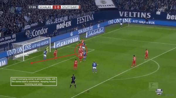 18' - Matip unorthodox header, just wide vs. Stuttgart