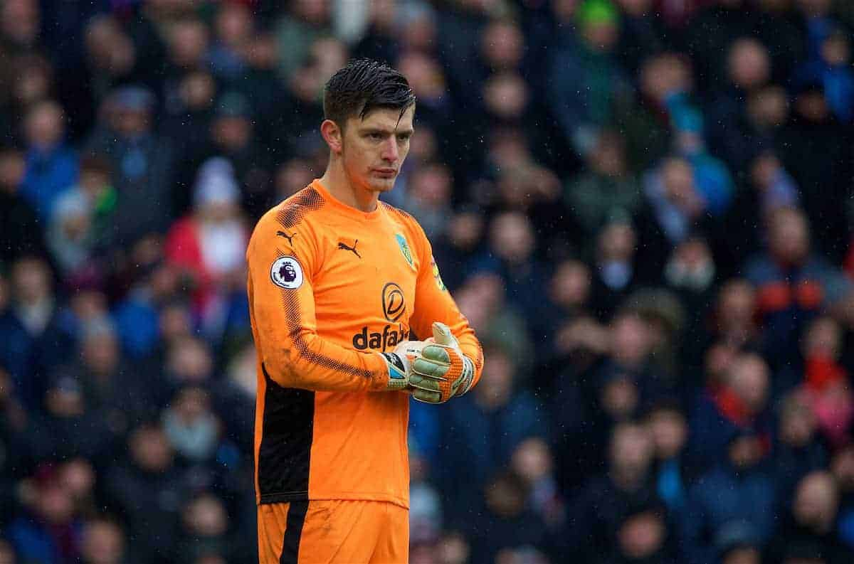 Burnley's goalkeeper Nick Pope during the FA Premier League match between Burnley FC and Manchester City FC at Turf Moor. (Pic by David Rawcliffe/Propaganda)