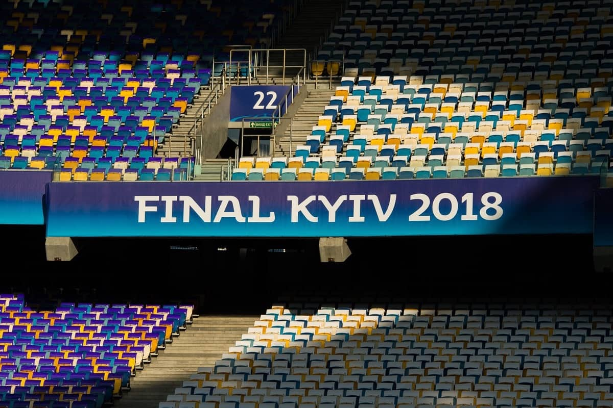 NSC Olimpiyskiy ahead of the UEFA Champions League Final match between Real Madrid CF and Liverpool FC. (Pic by Peter Powell/Propaganda