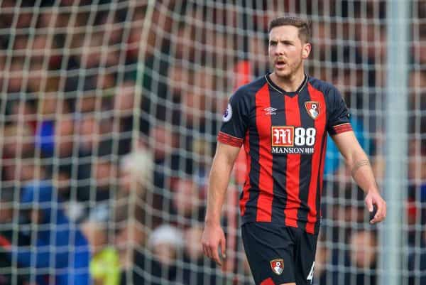 BOURNEMOUTH, ENGLAND - Sunday, November 25, 2018: AFC Bournemouth's Dan Gosling during the FA Premier League match between AFC Bournemouth and Arsenal FC at the Vitality Stadium. (Pic by David Rawcliffe/Propaganda)