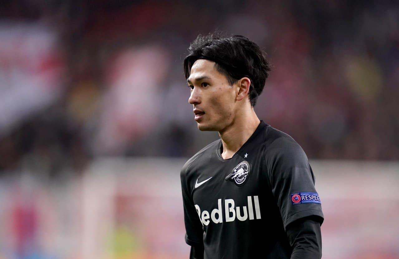 Red Bull Salzburg's Takumi Minamino could be on his way to Anfield (John Walton/PA)