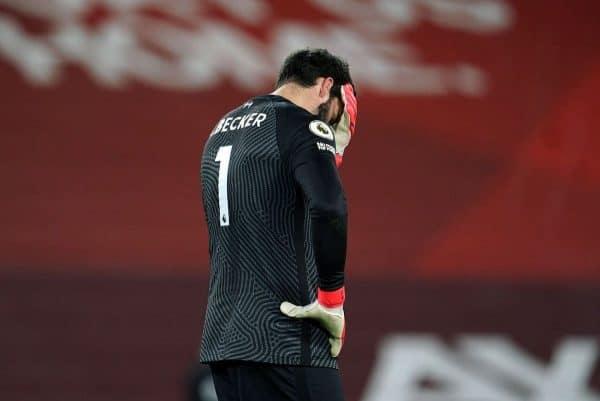 Alisson, sad, mistakes, vs Man City (Jon Super/PA)