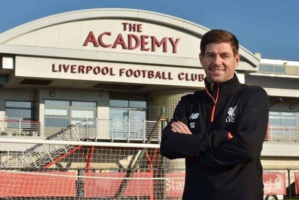 Steven Gerrard Liverpool academy coach (Andrew Powell / Liverpool FC)