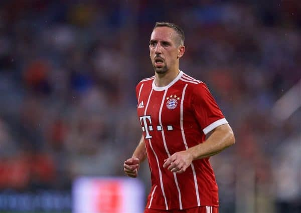 MUNICH, GERMANY - Tuesday, August 1, 2017: FC Bayern Munich's Franck Ribery during the Audi Cup 2017 match between FC Bayern Munich and Liverpool FC at the Allianz Arena. (Pic by David Rawcliffe/Propaganda)