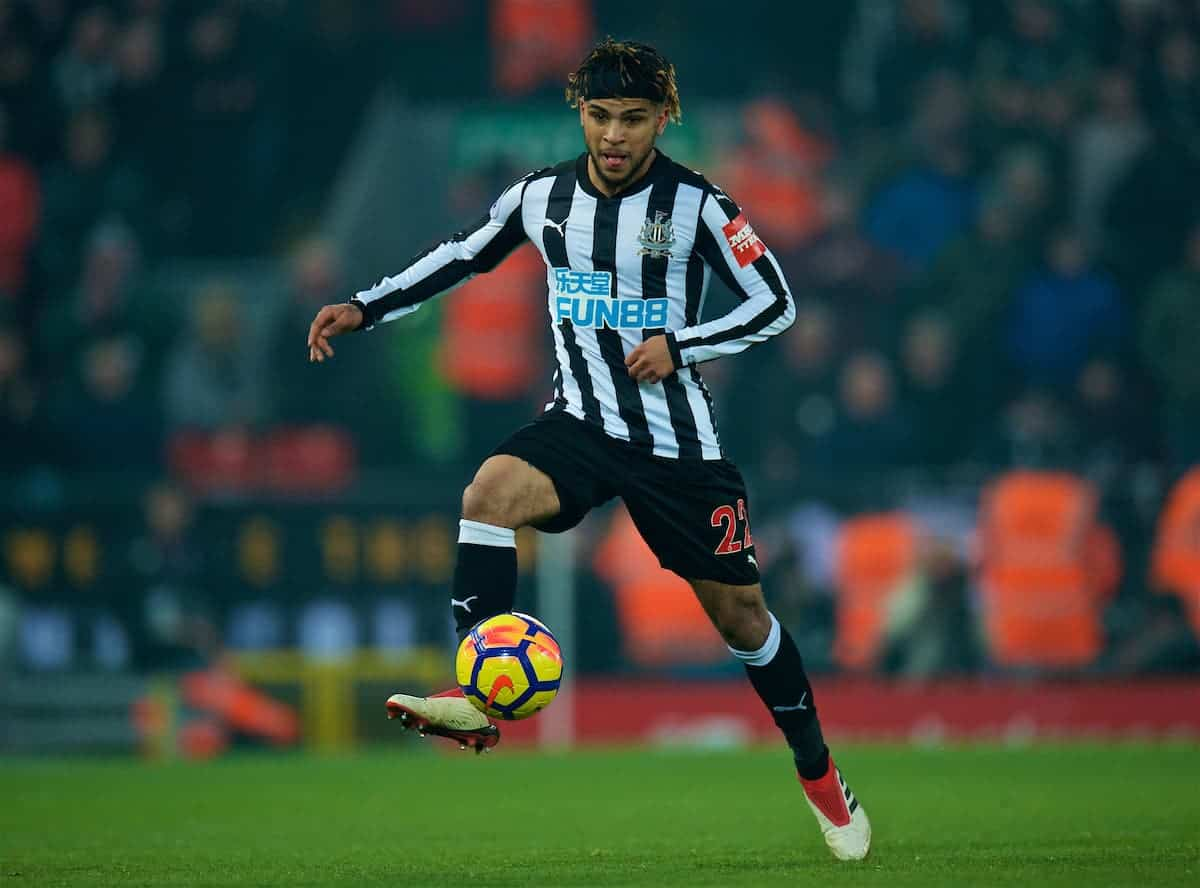 LIVERPOOL, ENGLAND - Saturday, March 3, 2018: Newcastle United's DeAndre Yedlin during the FA Premier League match between Liverpool FC and Newcastle United FC at Anfield. (Pic by Peter Powell/Propaganda)