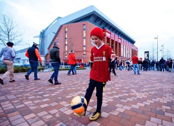 Anfield, matchday general, pre-match. (Pic by Paul Greenwood/Propaganda)