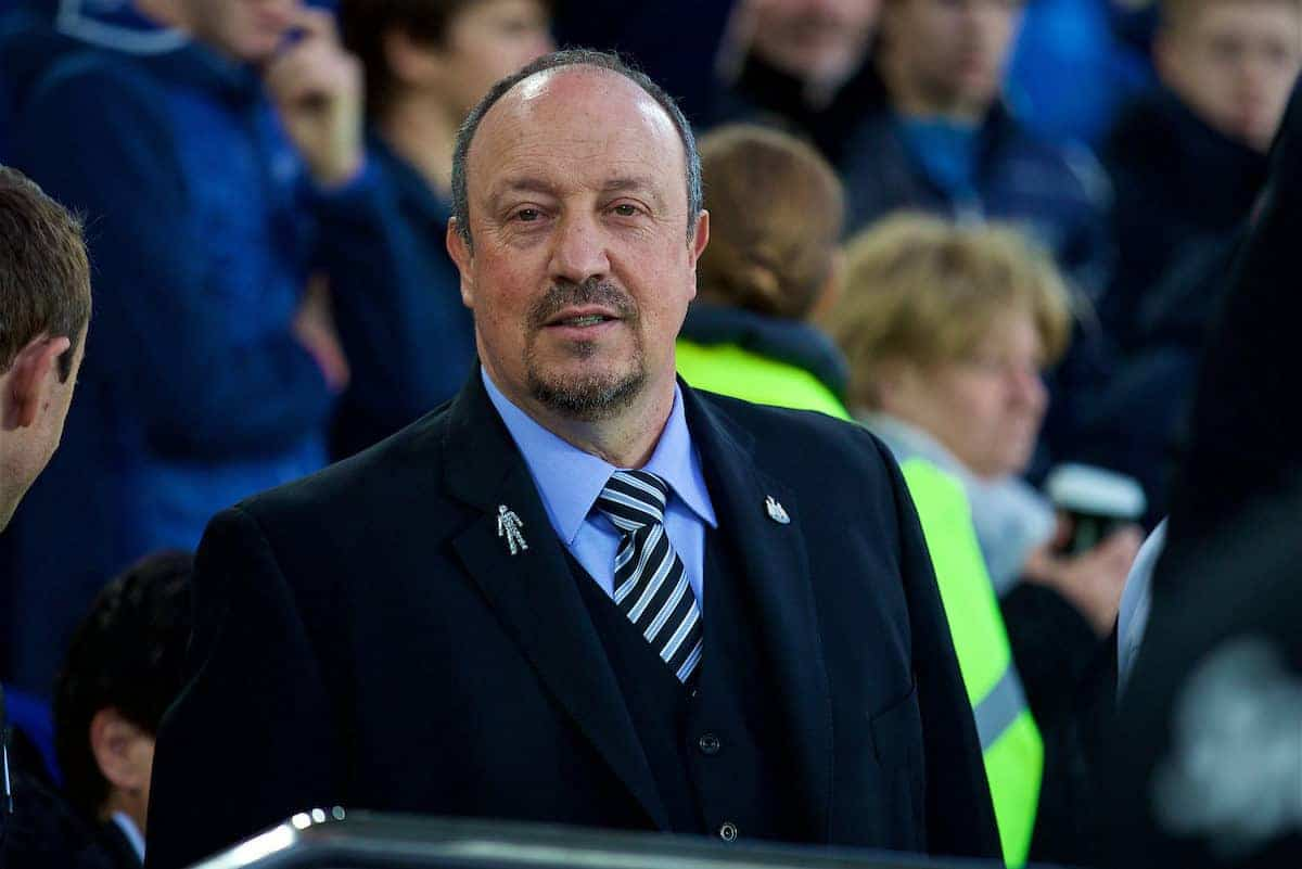 LIVERPOOL, ENGLAND - Monday, April 23, 2018: Newcastle United's manager Rafael Benitez before the FA Premier League match between Everton and Newcastle United at Goodison Park. (Pic by David Rawcliffe/Propaganda)