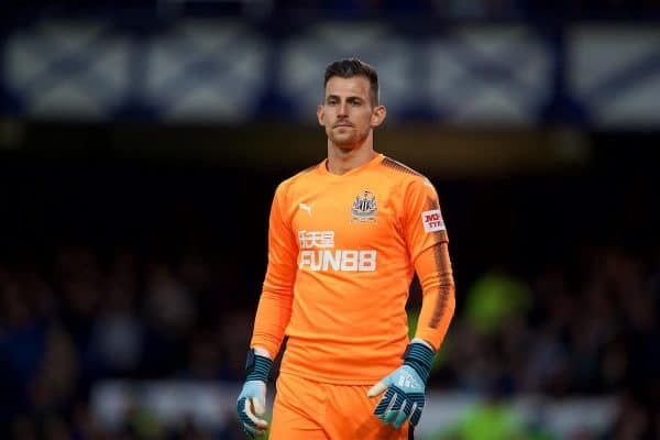 LIVERPOOL, ENGLAND - Monday, April 23, 2018: Newcastle United's goalkeeper Martin Dúbravka during the FA Premier League match between Everton and Newcastle United at Goodison Park. (Pic by David Rawcliffe/Propaganda)
