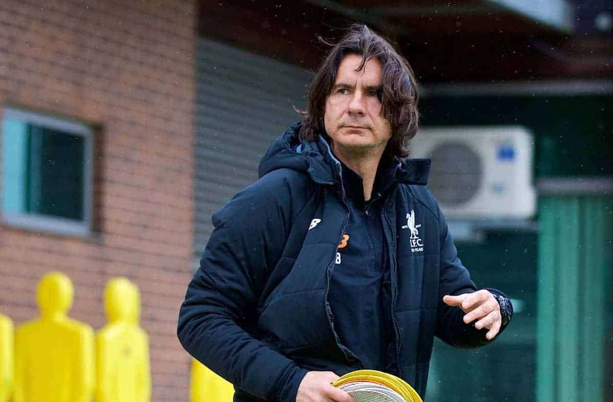 LIVERPOOL, ENGLAND - Monday, April 23, 2018: Liverpool's assistant manager Zeljko Buvac during a training session at Melwood Training Ground ahead of the UEFA Champions League Semi-Final 1st Leg match between Liverpool FC and AS Roma. (Pic by David Rawcliffe/Propaganda)