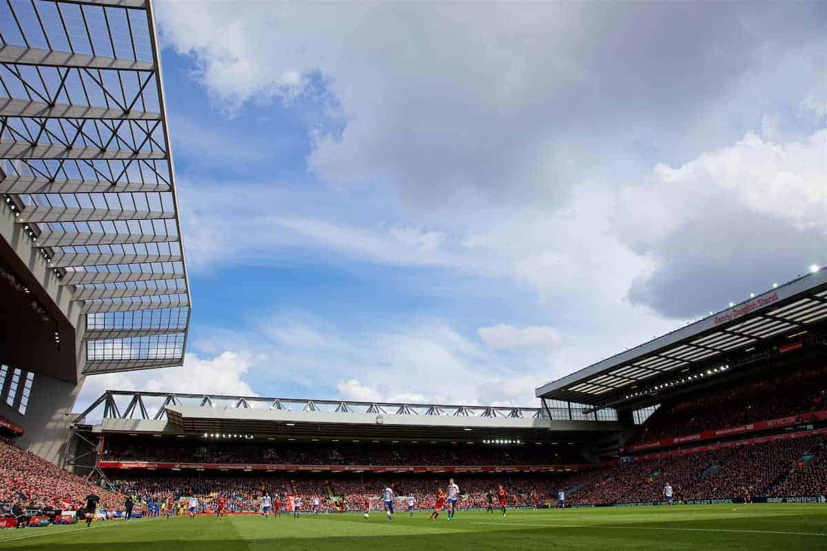 LIVERPOOL, ENGLAND - Saturday, April 28, 2018: A general view of Anfield during the FA Premier League match between Liverpool FC and Stoke City FC. (Pic by David Rawcliffe/Propaganda)